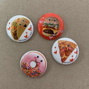 4 Food Buttons